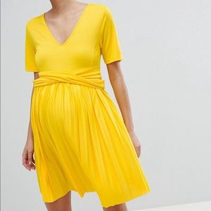 ASOS Maternity Pleated Skated Dress